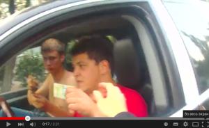 Новая полиция Киева задержала пьяного водителя.