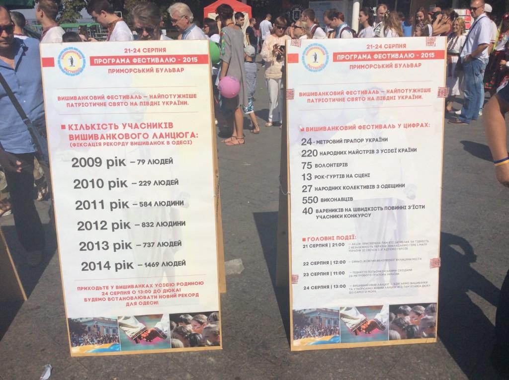 Программа вышиванкового фестиваля Одесса 2015