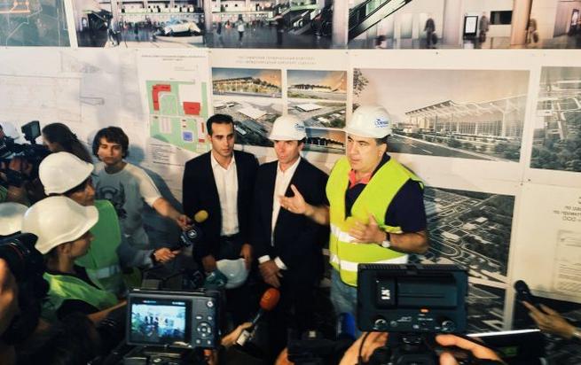 Визит Михаила Саакашвили в Одесский аэропорт